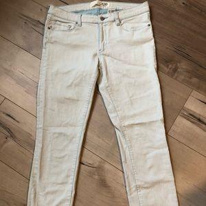 Slim fit Joe Fresh white washed cropped jeans
